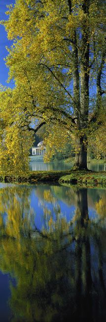 The stunning Palladian Stourhead, Wiltshire, UK circa 1721 designed by Colen Campbell and built by Nathaniel Ireson