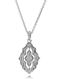 Pandora Silver Classic Christmas Cubic Zirconia Necklace 390362CZ-90