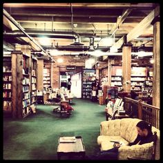 One of our favorite Denver shops: The Tattered cover. Miles of books and specialty publications give you millions of reasons to leave your iPad at home for a day.  Read more on Boutiquing and Drinking: http://boutiquinganddrinking.com/locations/denver/pairing-tattered-cover-bookstore-cafe-denver/