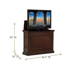 """Touchstone Elevate Espresso TV Lift Cabinet For Flat Screen TV's Up To 42"""" - Furniture & Mattresses - Living Room Furniture - TV Stands & Entertainment Centers"""