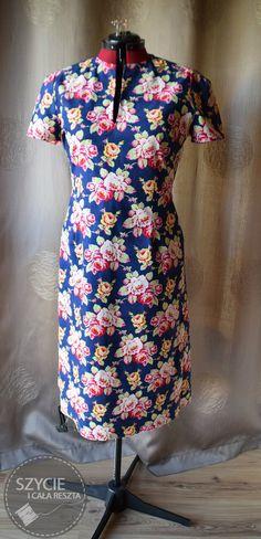 "Flower dress from Burda 11/2012 model 142, Art Gallery Fabric ""lucky girl"""
