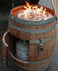 Not exactly a wine accessory-but I love this idea-and I do have a wine barrel!
