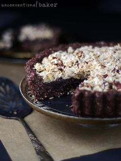 Raw Vegan German Chocolate Pie from unconventionalbaker.com. I was looking for Paleo pie recipes and these look absolutley delcious! I'm excited to make this for a Paleo dessert. Collected on FoodKollective.com