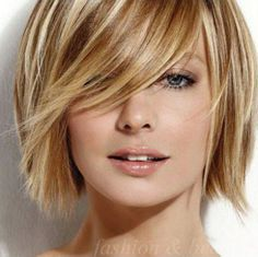 short hair style for women/side swept bangs