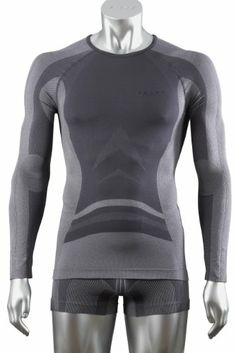 Falke Men's Running Athletic Seamless First Layer Longsleeved Shirt Large Carbon, , #Sporting Goods, #Active Underwear