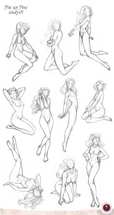 Pin-up Poses: Anatomy references for figure drawing. Drawing Poses, Drawing Tips, Drawing Reference, Body Drawing, Figure Drawing, Drawing Practice, Female Drawing, Life Drawing, Drawing Art