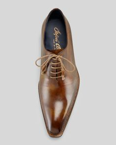 Stefano Branchini Plain-Toe Lace-Up, Brown - Bergdorf Goodman