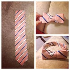 Turn an old tie into a little boy's bowtie tutorial!