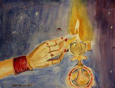 #diwali2015 #diwali #deepawali #happydiwali #festival #hindulady #hand #ladyhand #art #painting #fineart #watercolor #greetings #hinduladyhand #poster #diwalicard