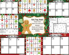 This is a holiday sweet treat / gingerbread man themed center, game and printables. This is a game that can be used in a center or small group setting. It is appropriate for advanced preschoolers, kindergarten, special education instruction, or for any student that needs extra practice in learning their upper and lowercase letters.