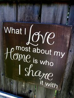 What I love most about my home pallet sign