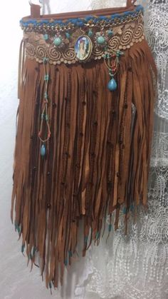 Bag handbag women handmade leather cross body fringe ladies fashion cross Boho | eBay