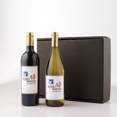 Customized Label -  Cabernet Sauvignon & Chardonnay Gift Box.  The quintessential pair: one perfect Cabernet and one perfect Chardonnay. All dressed up in our classic black gift box. Classic in every way. Get it here: https://www.wineshopathome.com/shop/products/personalized-wines/custom-label-duet-cabernet-chardonnay/?rep=rivkakaminetzky
