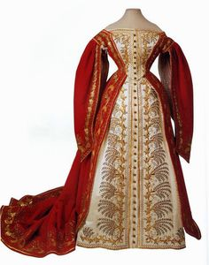 Gods and Foolish Grandeur: The Russian court gown, deconstructed: dress for a maid of honor, unknown date