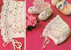 Professione Donna: Lavori con l'uncinetto: Cuffia per neonato con scarpine