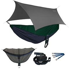 ENO Reactor OneLink Sleep System  NavyForest Hammock With Grey Profly * Click image for more details.