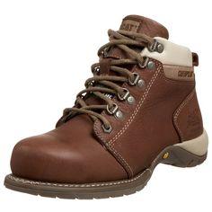Caterpillar Women's Carlie Steel Toe Work Boot Steel Toe Boots Women, Caterpillar Boots, Good Work Boots, Half Shoes, Steel Toe Work Shoes, Best Shoes For Men, Color Negra, New Shoes, Shoe Boots