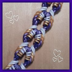 """This is a hooked design. No loom needed. New """"Key West"""" Hook Only Bracelet/How To Tutorial Loom Bands Designs, Loom Band Patterns, Loom Bracelet Patterns, Kandi Patterns, Jewelry Patterns, Rainbow Loom Tutorials, Rainbow Loom Patterns, Rainbow Loom Creations, Rainbow Loom Bands"""