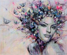 "Saatchi Art Artist Lykke Steenbach Josephsen; Painting, ""Blossom"" #art"