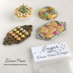 SUGAR for Miniature Sweets and Desserts - Super Fine Fake Sugar - Dollhouse Miniature Food Supplies. $2.25, via Etsy.
