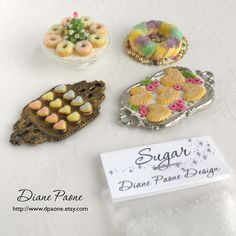 SUGAR for Miniature Sweets and Desserts - Super Fine Fake Sugar - Dollhouse Miniature Food Supplies. $2.25, via Etsy.