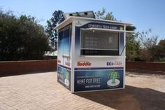 SOLAR-POWERED CELLPHONE CHARGING STATION