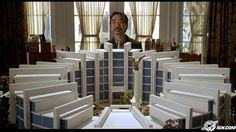 """Welcome to Mooseport (2004).  A former president wishes to build his presidential library in Mooseport, Maine.  His monstrously large presidential library... """"a man-made mountain over which soars the eagle."""""""