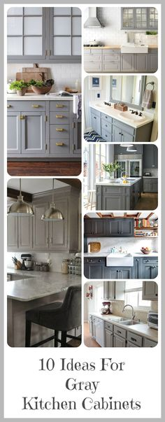 I've been obsessed with gray cabinets lately and can't wait to paint mine gray. Here are some of my top favorite inspirations for gray cabinet colors and styles! Some of the posts have tutorials th. Painting Kitchen Cabinets, Kitchen Cabinets, Kitchen Remodel, Kitchen Decor, New Kitchen, Kitchen Dining Room, Home Kitchens, Kitchen Renovation, Kitchen Design