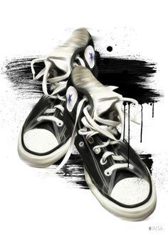 Sneakers old av Little Kajsa - Poster för dina väggar från Gallerix, pris från 79 kr. Besök oss på https://www.gallerix.se