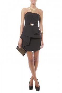 Vestido de fiesta corto negro - shopmdf.com
