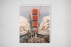 "Saatchi Online Artist: evan mann; Oil, 2010, Painting ""Pillar of Fire"""