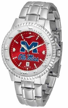 Ole Miss Rebels Men's Stainless Steel Dress Watch SunTime. $86.95. Stainless Steel. AnoChrome Dial Enhances Team Logo And Overall Look. Links Make Watch Adjustable. Officially Licensed Mississippi Rebels Men's Stainless Steel Dress Watch. Men