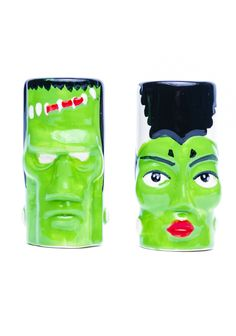 Sourpuss Clothing Frank and Bride Salt and Pepper Shakers | Dolls Kill