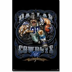 cowboys mascot | Details about Dallas Cowboys Mascot POSTER Football NFL Logo Sports