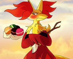 // Pokemon Amie // Delphox by lavalampofepicness on deviantART