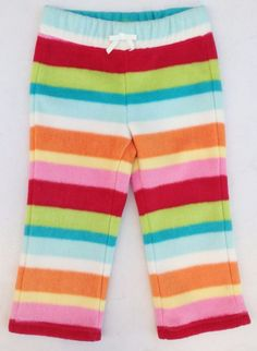 Gymboree Cozy Cutie Girls Multi-Color Striped Fleece Pants Sz 18-24 Months NWT #Gymboree #FleecePants #DressyEveryday
