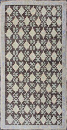 """KEIVAN WOVEN ARTS,    Type :Oushak Origin :Turkey  Size : 2'8""""x5'3""""  Circa :1940"""