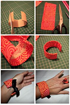 Tutorial: How To Turn A Toilet Roll Into A Bracelet! - Click the image for the Tutorial!