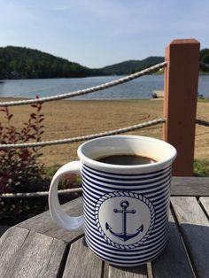 Blue & White Anchor Mug White Whale, Blue Whale, Style Nautique, Whale Pattern, Blue Coffee Mugs, White Apron, Door Stopper, Wall Plaques, Bleu Marine