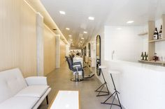 Barbershop Decoration Ideas with Good Lighting