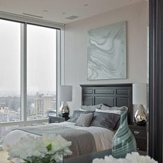 Grey Master Bedroom Design, Pictures, Remodel, Decor and Ideas - page 7