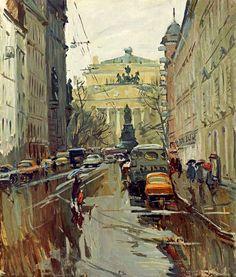 Александр Семенов (1922-1984) Ленинград. Малая Садовая, 1979