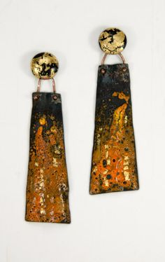 J Pallister, enamel on steel, bronze, gold foil