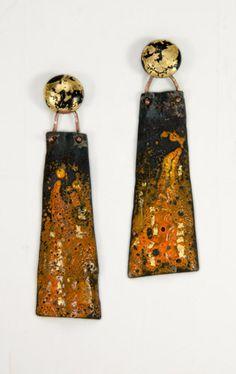 J Pallister, enamel on steel, bronze, gold foil