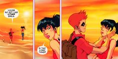 roy harper donna troy | Tumblr Roy Harper, Red Arrow, Red Hood, Comics Universe, Young Justice, Archer, Outlander, Arsenal, Dc Comics
