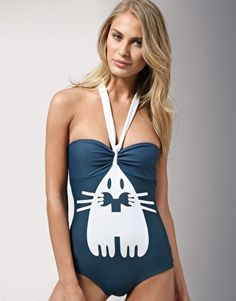 Bunny Bathing Suit: By Peter Jensen. I adore the bunny ear halter