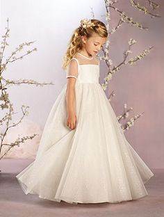 Shop Alfred Angelo Flower Girl Dress - 736 in Net at Weddington Way. Find the perfect made-to-order flower girl dress for the little girl in your wedding.