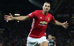 Lataa kuva jalkapallo, Zlatan Ibrahimovic, tavoite, Premier League, jalkapallo tähteä, MU, Ibra, Manchester United, jalkapalloilijat