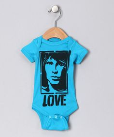 Take a look at this Turquoise 'Love' Bodysuit by Life Clothing on #zulily today!