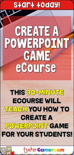 Learn to create PowerPoint game with animations and buttons! Handouts included! #eCourse